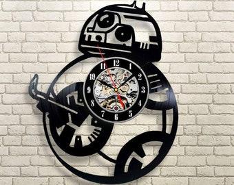 Star Wars Art Birthday Gift For Him Star Wars Vinyl Record Clock Luke Skywalker Wall Clock Modern Wall Clock Vintage Darth Vader Wall Decor