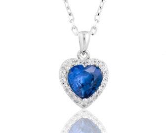 Heart pendant Sapphire