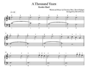 A Thousand Years Piano Sheet