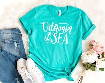 c99f86ee7 Vitamin Sea | Summer Short Sleeve Graphic Tee | Mom Tees | Vacation Tee |  It's Summer | Family Vacation TShirt | Beach Tee