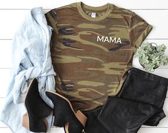 3a2950f52ad64 Camo Mama Tee | Mom Tee | Unisex Tee | Motherhood | Mother Shirt | Mom Gift  | New Mom | Boy Mom Shirt