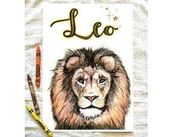 Lion Nursery Print, Custom Lion Print, Personalised Lion, Lion Nursery Decor, Baby Boy Nursery