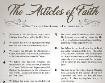 LDS The Articles of Faith