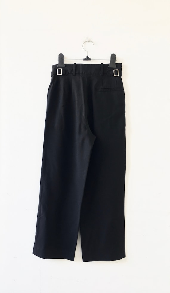 VALENTINO Black High Waisted Cropped Trouser