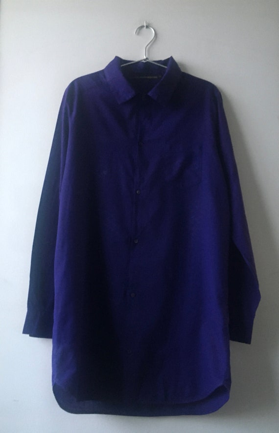 LA FEE MARABOUTEE - Purple Indigo Collared Shirt /