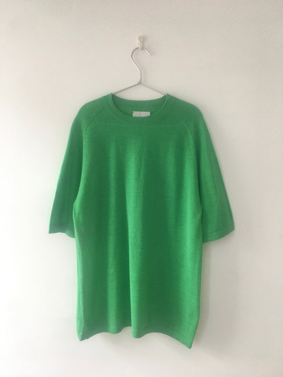 CARCEL - Baby Alpaca Wool Bright Green T-shirt