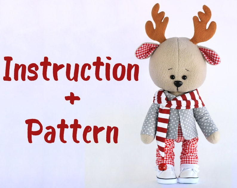 Deer Oliver Instructions And Pattern Sewing Toys Cyber Etsy