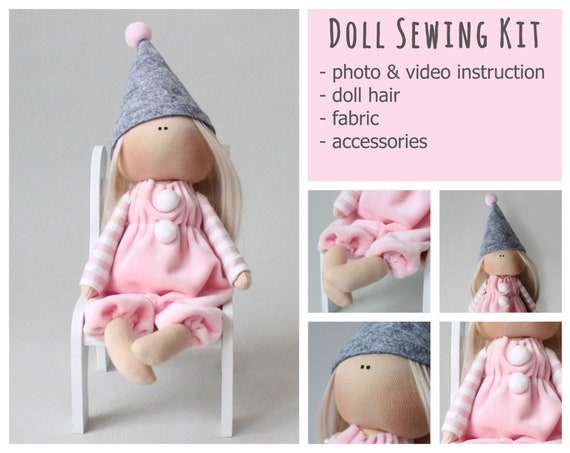 Queen Doll Handmade Girl Gift Tilda Rag Doll Small Fairy Rag Doll Pattern Tilda Doll Sewing Kit for Mom Sewing Cloth Doll Kit