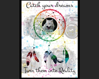Turn Your Dreams Into Reality Printable Download. Dreamcatcher.