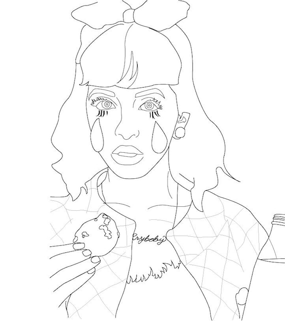 Items Similar To Melanie Martinez Coloringpage On Etsy