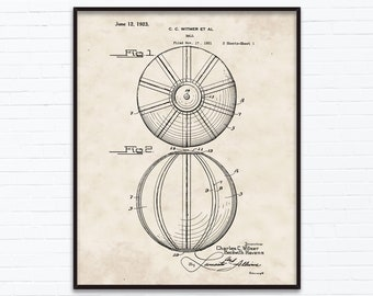 Bowling Ball Patent Drawings June Birthday Gift Etsy