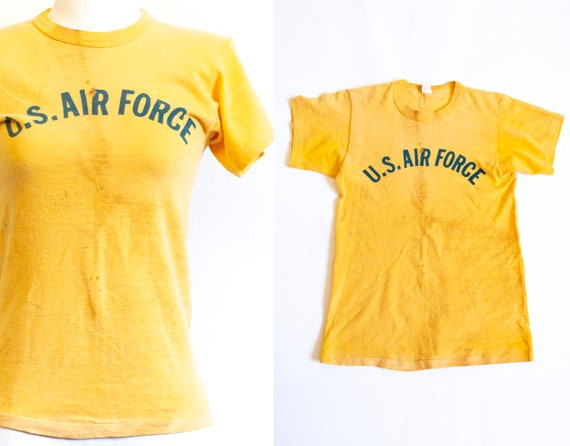 Vintage 50s U.S. Air Force T-shirt / Thrashed Dist