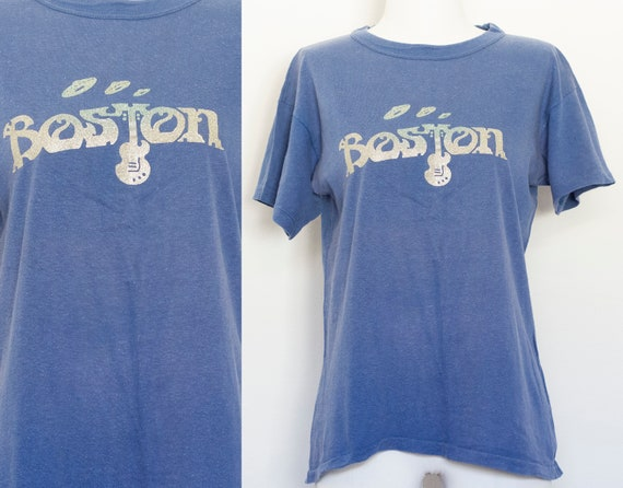 Vintage Boston Band T-shirt 70s 80s Sunfaded  Smal
