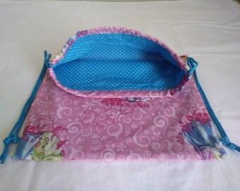 Handmade DISNEY lined drawstring backpack