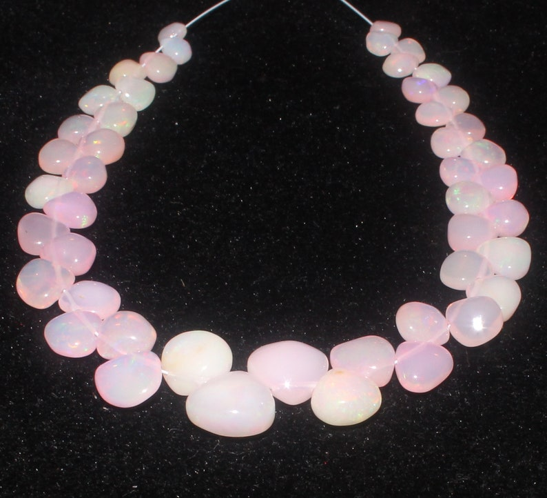 Pink Ethiopian Opal Smooth Heart Beads strand opal heart beads Wholesale Opal beads #6