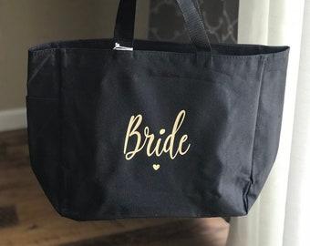 Bride and bridesmaids bags