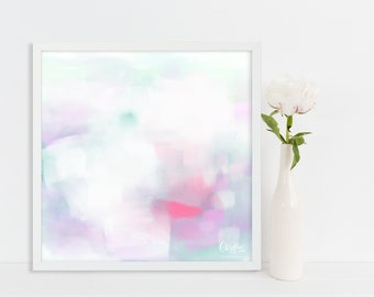 Art Print On Photo Paper. Minimal. Pastel. Abstract. Purple.