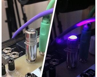 UVP - Ultra Violet 3.5mm Eurorack LED Modular Light Plug (5mm LED)