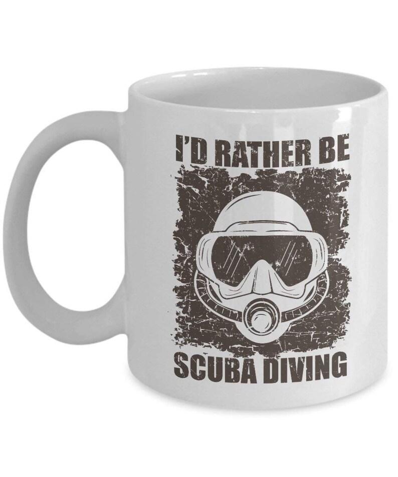 e19291d7c9a Verontruste ik liever zou duiken koffie & thee cadeau mok voor | Etsy