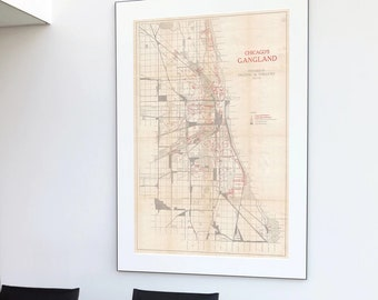 graphic about Printable Maps of Chicago referred to as Chicago map print Etsy