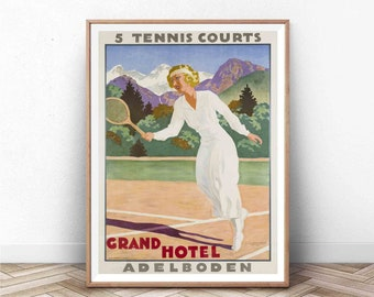 Adelboden Switzerland Travel Print Vintage Poster Holiday Time #254 Vintage Travel Aesthetic Wall Hangings