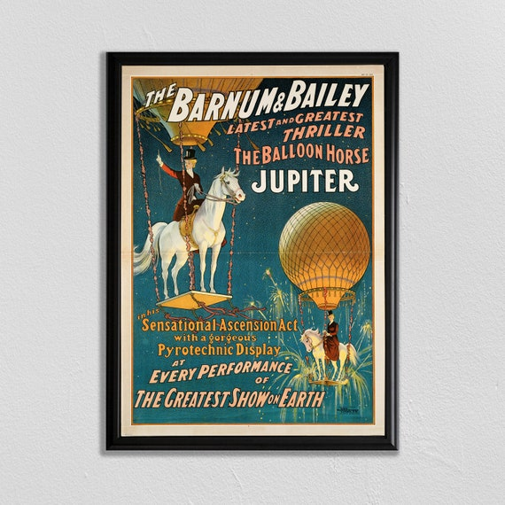 Ringling Brothers Horse Jupiter Vintage Circus Travel Advertisement Poster