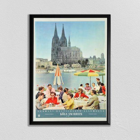Vintage 1954 Munich Oktoberfest Octoberfest Tourism Poster Print A3//A4