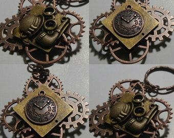 custom made steampunk keychain