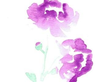 Peony Watercolor Print