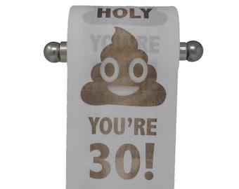 Happy 30th Birthday Toilet Paper Prank Funny Gag Gift