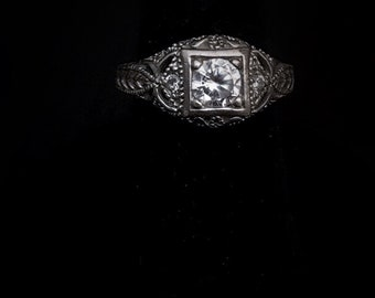 Filgree antique estate ring