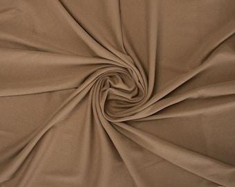 Almond - Rib Knit - Family Fabrics