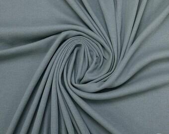 Mistiq Blue - Rib Knit - Family Fabrics
