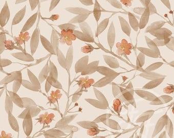 Blossom (Eggnog) - Jersey Knit Fabric - Family Fabrics Design