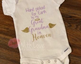Great Grandma baby onsie, Namesake onesie