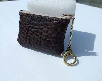 Small coin purse with chain