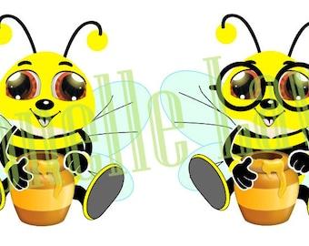Boy Bee Print N cut file