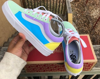 "Custom ""Pastel"" Vans ADULTS"