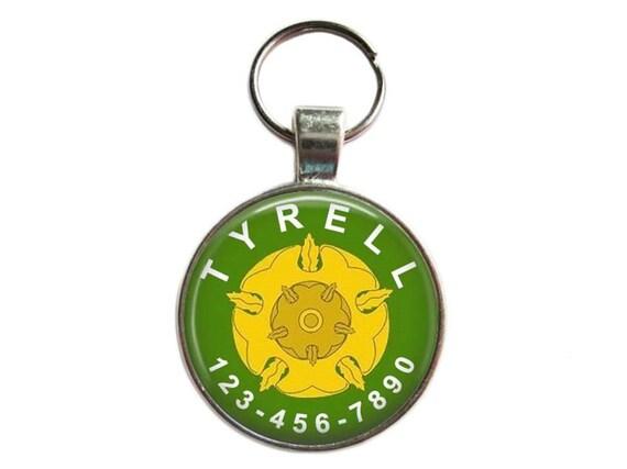Dog Tag ID - maison Tyrell - chien Etiquettes, étiquette de chat, animal de compagnie