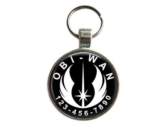 Dog Tag ID - ordre Jedi (Star Wars) - chien Etiquettes, étiquette de chat, animal de compagnie