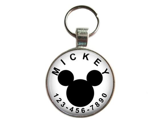 Étiquette de chien ID Tag - Mickey Mouse (DIsney) - Etiquettes chien, chat, animal de compagnie