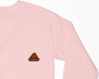 Kawaii poop poo - Womans sweatshirt 2W075