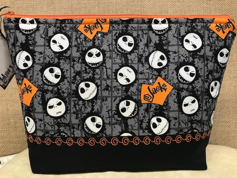 Jack Zippered Pouch Large *Orange /& Black