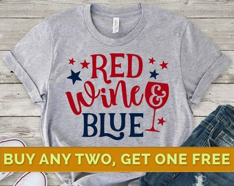 d2a8665c3b33 Red Wine and Blue Shirt, Independence Day Shirt, Merica Shirt, Patriotic  Shirt, 4th of July Shirt, America Shirts, Fourth of July Shirt