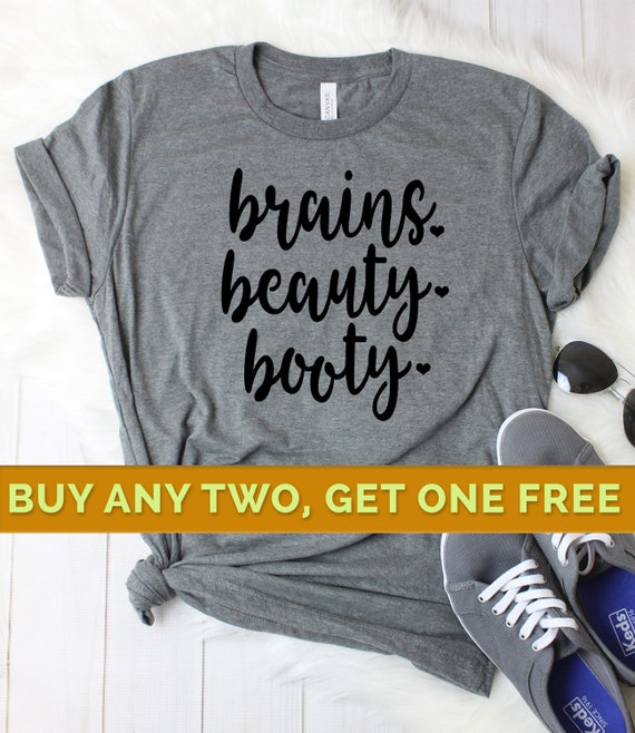 Fitness Shirts for Women, Work Out Shirts for Women, Gym Shirts, Fitness  tshirt, Funny Fitness Shirt, Funny Gym Shirts, Brains Beauty Booty