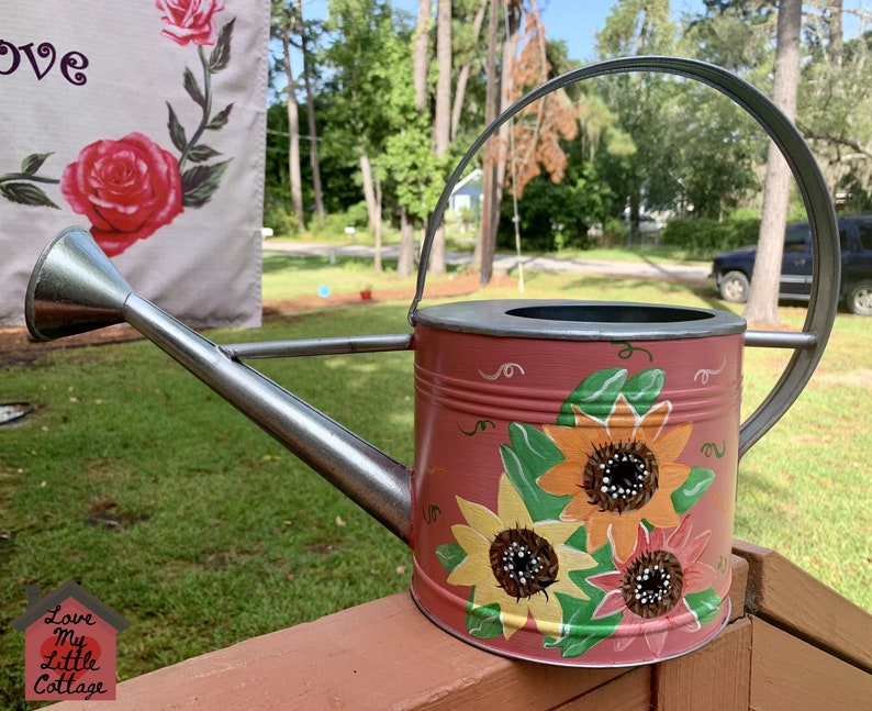 Sunflower Watering Can Pink