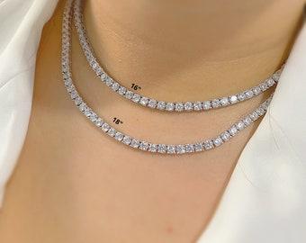"Iced Lab Diamond 30mm 20/"" Spike Choker Chain Fashion Bling Hip Hop Necklace"