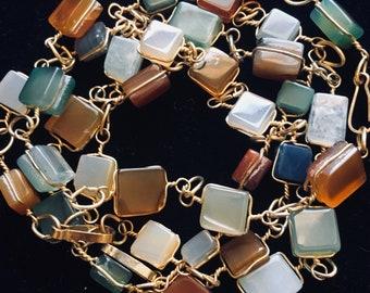 Beaded bracelet with assorted gemstones