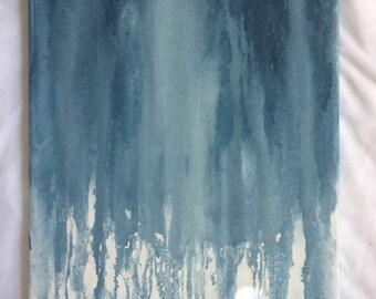 Blue Drip Painting