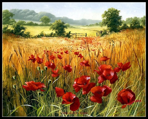 POPPY FIELDS COUNTED CROSS STITCH CHART